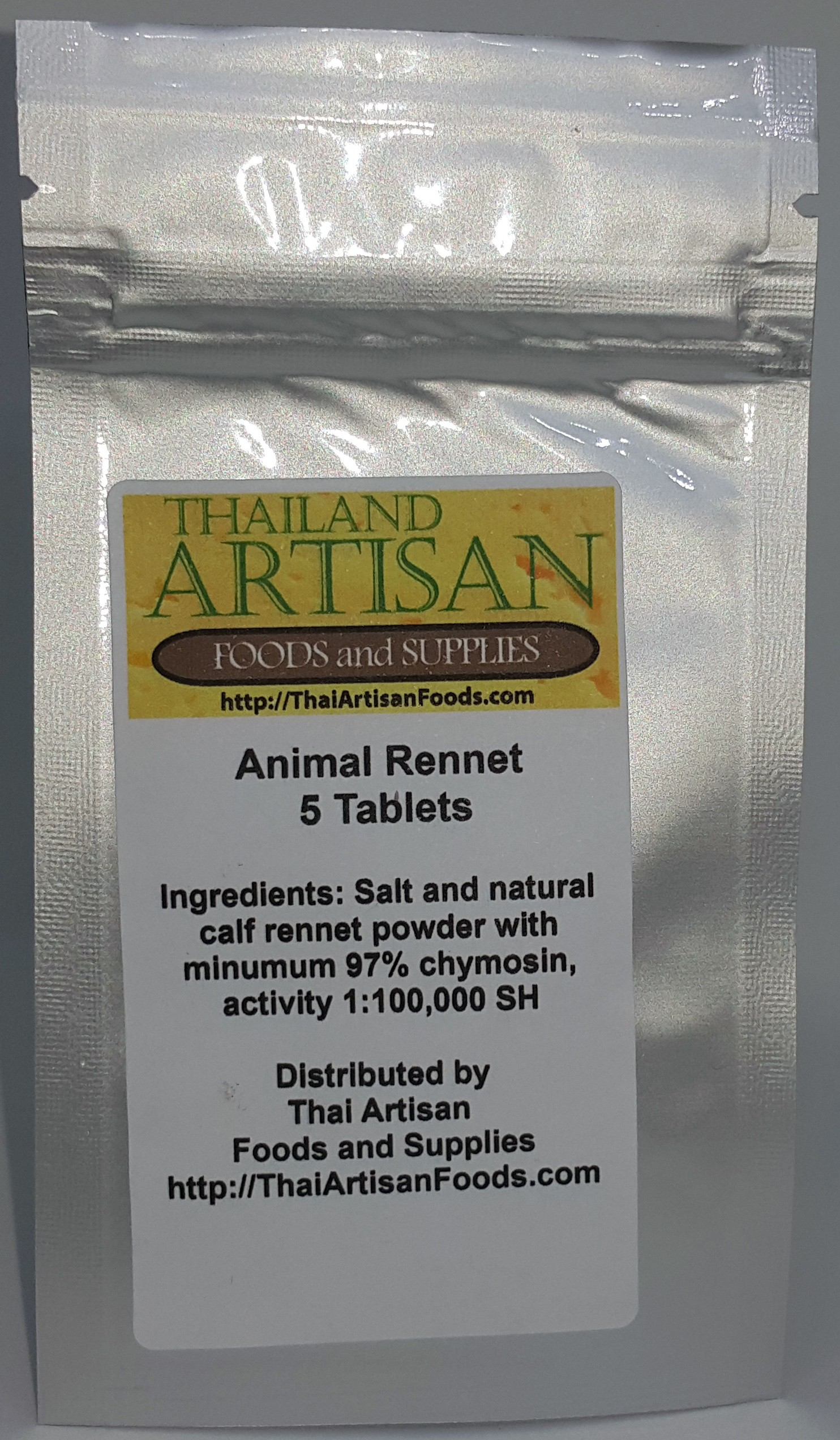 Rennet Tablets Package